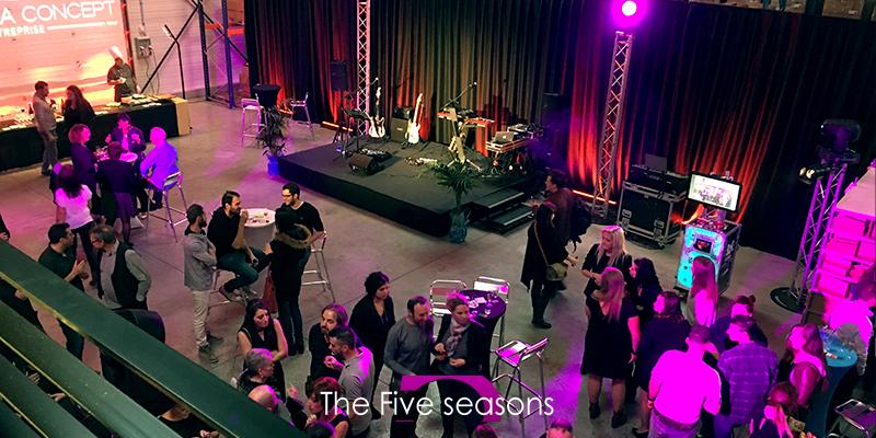 Soirée d'entreprise , warm-up : les 2 réferences d'orchestre nouvelle générations : five-seasons.fr & justone.fr France & Suisse