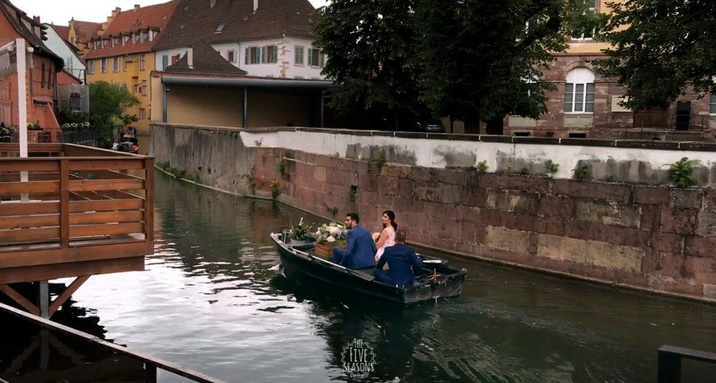 Colmar mariage - Jean yves Schillinger - Five seasons live band lyon - Arrivée des mariés dans le restaurant