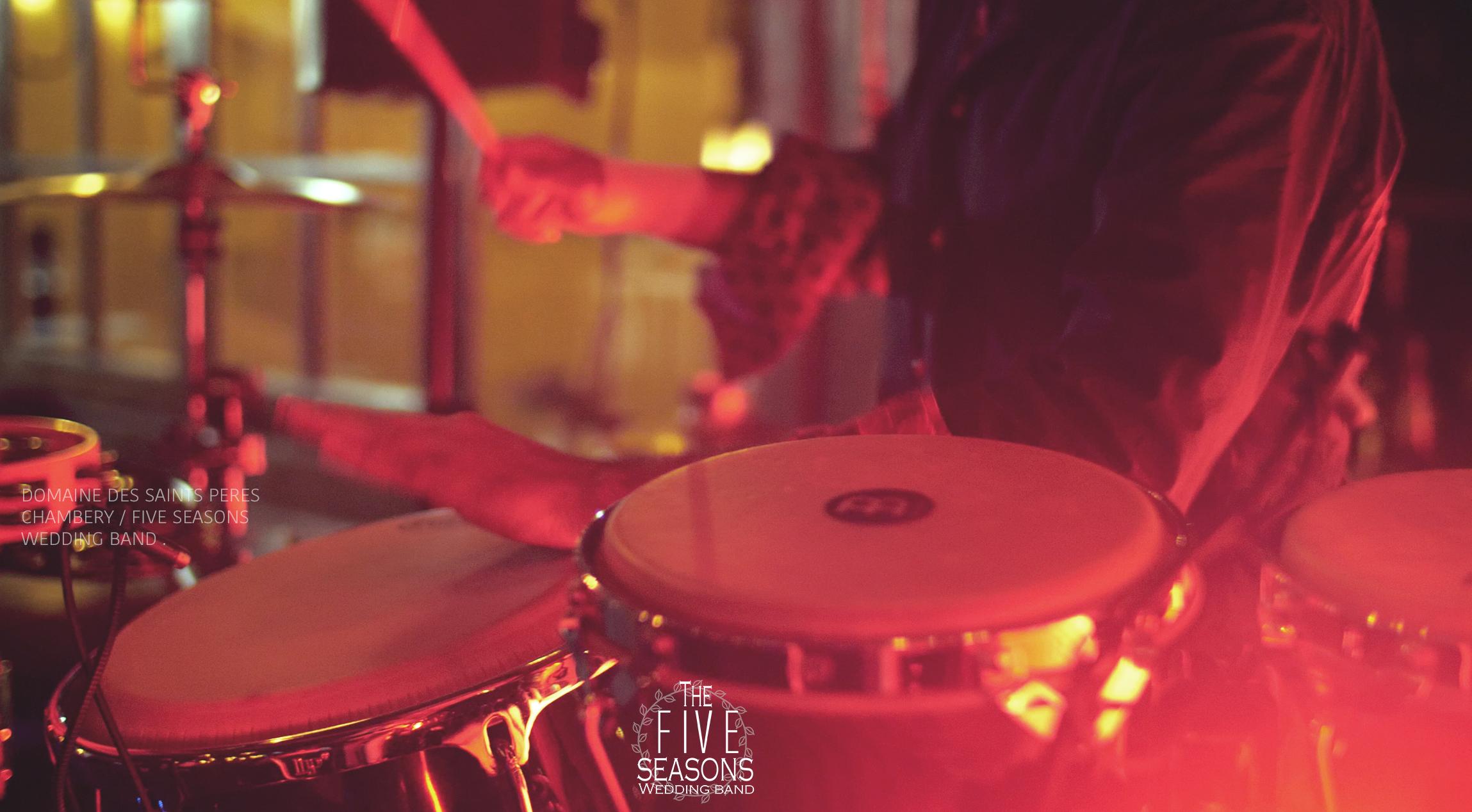 Domaine des saints pères - Five seasons orchestre live band lyon - Percussionniste