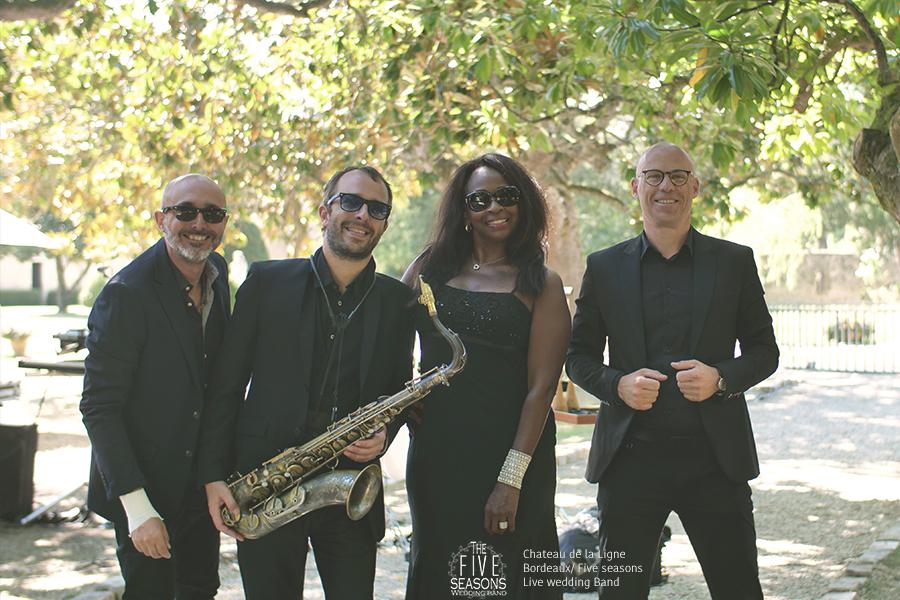 Chateau de la ligne - Five seasons wedding band orchestre live en quartet live