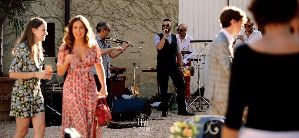 Chateau de Beauchamp mariage - Five seasons wedding band Lyon Cocktail